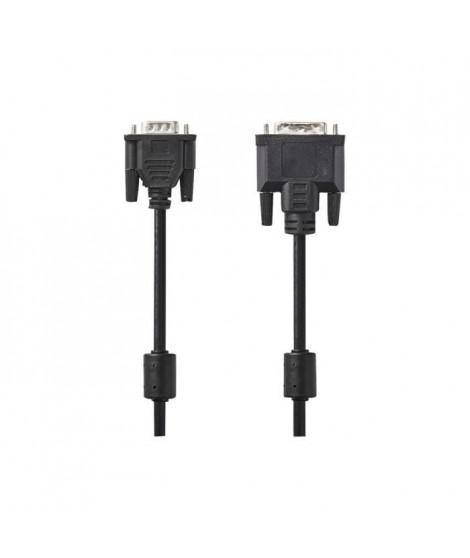 NEDIS DVI Cable - DVI-D 24+1-Pin Male  -  DVI-D 24+1-Pin Male - 2.0 m - Noir