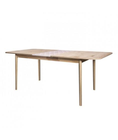 SOFIA Table de séjour avec extension - Bois avec motif - L 200 x P 90 x H 75 cm