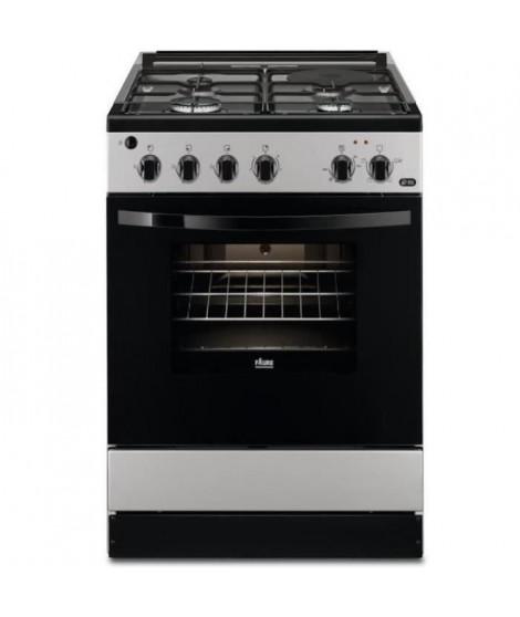 FAURE FCM640HCSA-Cuisiniere table mixte gaz / électrique-4 foyers-Four électrique-Catalyse-56 L-A-L 60 x H 88,9 cm-Silver