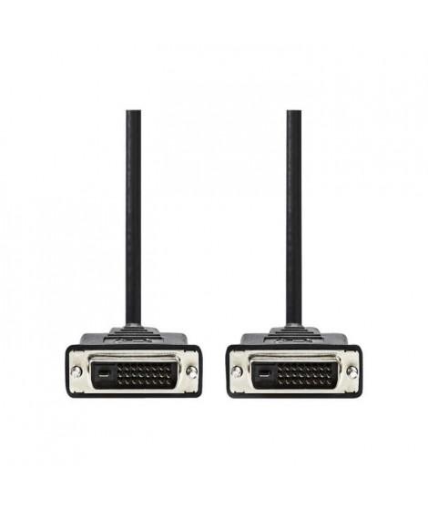 NEDIS DVI Cable - DVI-D 24+1-Pin Male  -  DVI-D 24+1-Pin Male - 3.0 m - Noir