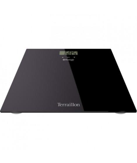 TERRAILLON 14450 Imc Body Relax Pese-personne connecté - Plateau en verre 30 x 30 cm - Noir