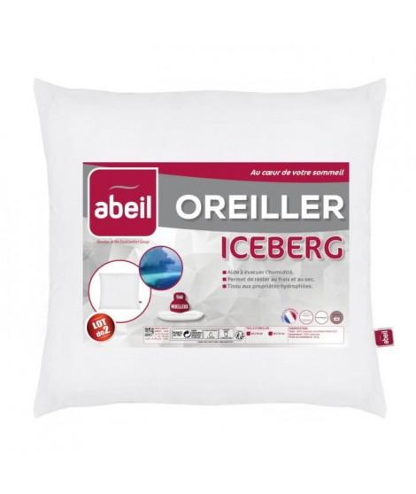 ABEIL Lot de 2 Oreillers moelleux ICEBERG 60x60cm