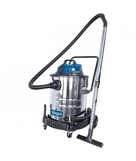 SCHEPPACH Aspirateur eau et poussiere 50L 1400W avec prise synchrone 200W + une brosse combinée, un suceur plat, un filtre mo…
