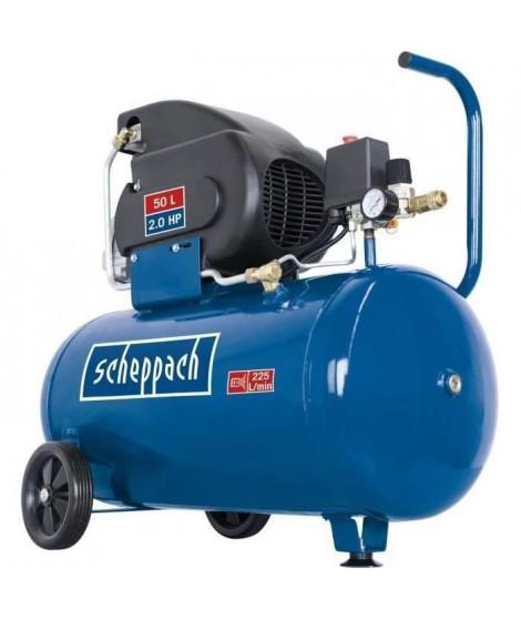 SCHEPPACH Compresseur 50L 10 bar lubrifié avec bidon d'huile moteur 280ml -  HC60
