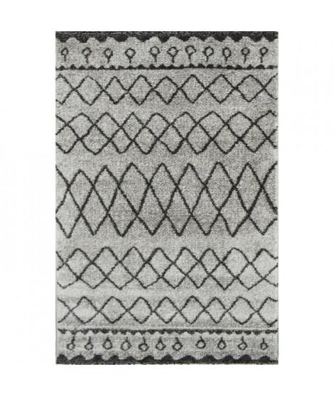 TOUAREG Tapis de couloir style berbere - 60 x 110 cm - 100% polypropylene - Gris