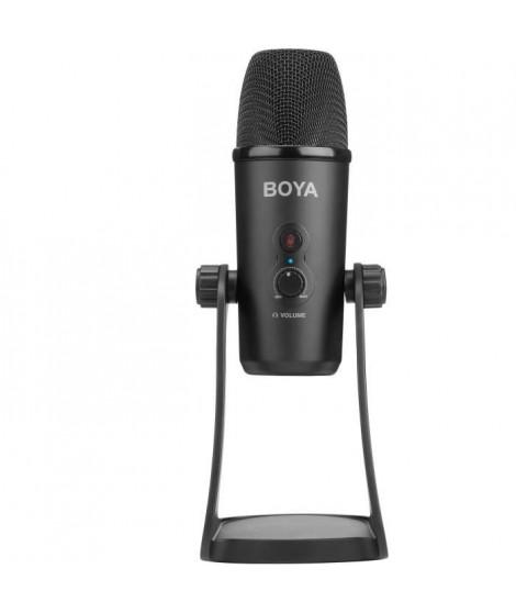 BOYA PM700 Microphone de studio - Cable micro et USB - Compatible Windows et Mac