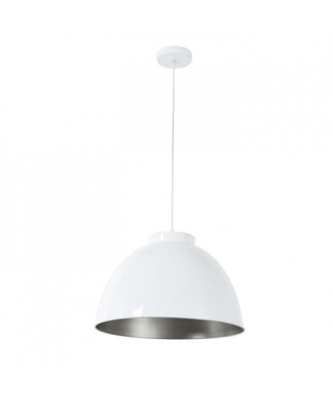 COREP Suspension en métal Dock - Ø 45 cm - H 31 cm - E27 - 60 W - Blanc brillant