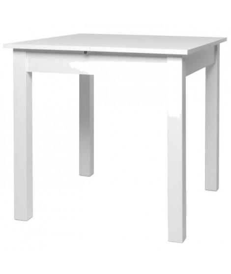 COBURG Table a manger extensible de 4 a 6 personne classique blanc - L 80-120 x l 80 cm