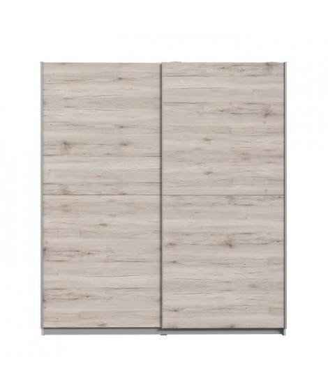 FINLANDEK Armoire de chambre ULOS style contemporain décor chene cendré clair - L 170,3 cm