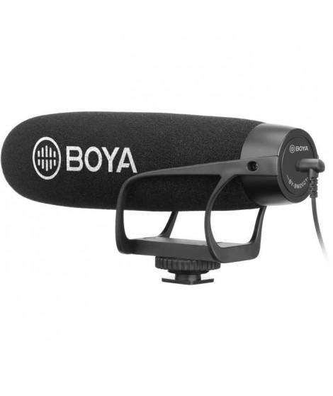BOYA BM2021 Microphone canon a condensateur - Câble de sortie TRS & TRRS 3,5 mm