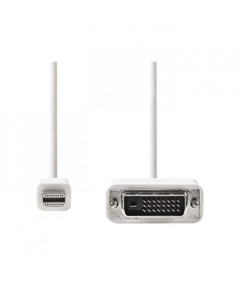 NEDIS Mini DisplayPort - DVI Cable - Mini DisplayPort Male  -  DVI-D 24+1-Pin Male - 2.0 m - Blanc
