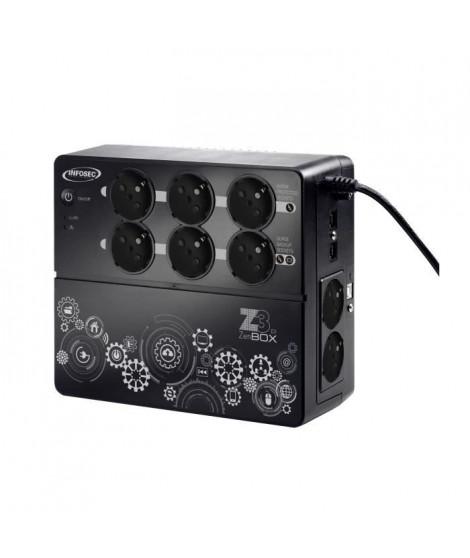 INFOSEC Onduleur haute fréquence Z3 ZenBox EX 700 - 700 VA 8 Prises FR/SCHUKO