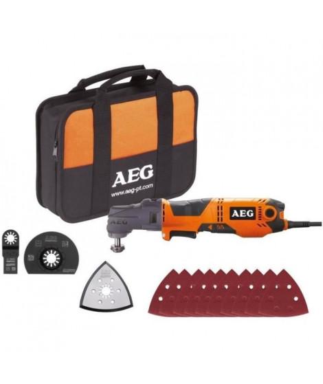 AEG POWERTOOLS Multitool 300 Watts + lames & accessoires