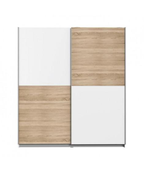 FINLANDEK Armoire de chambre ULOS style contemporain décor chene et blanc - L 170,3 cm