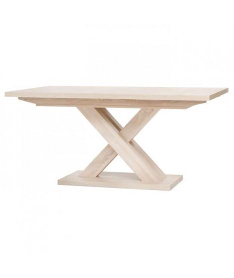 AVANT Table extensible mélaminé style contemporain - Pieds central en croix - L 160 a 200 cm