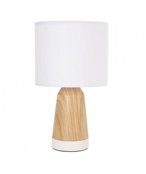 COREP Lampe touch Baltik - Blanc et naturel