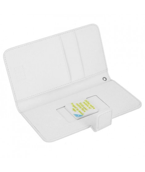 Muvit - Housse portefeuille Blanc universel Slide Cover Taille M