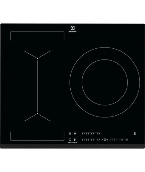 ELECTROLUX LIV633 - Table de cuisson induction - 3 zones - 7350 W - L 59 x P 52 cm - Revetement verre - Noir