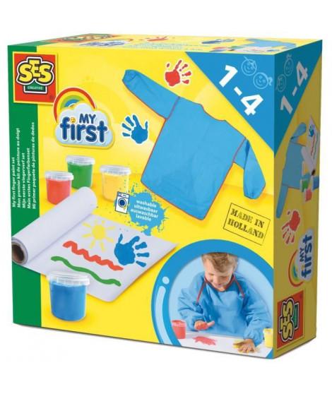 SES CREATIVE MY FIRST Mon premier kit de peinture au doigt