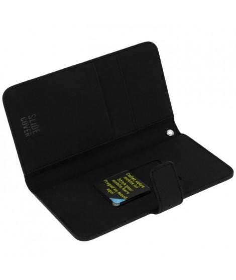 Muvit - Housse portefeuille Noir universel Slide Cover Taille XL