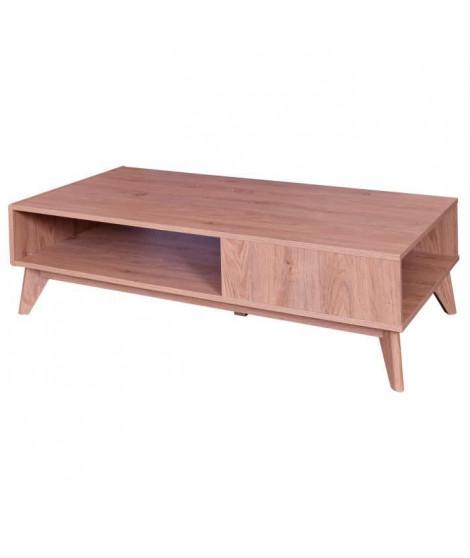 CELIA Table basse scandinave décor chene - L 120 x l 59 cm