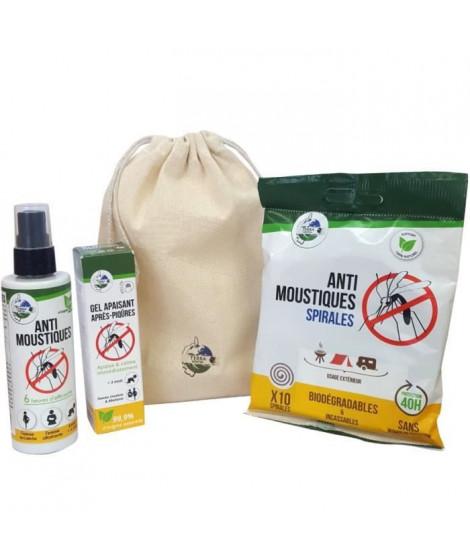 TERRA NOSTRA Kit anti-moustiques N°2 - Spirales, Spray 100 ml & Gel apaisant