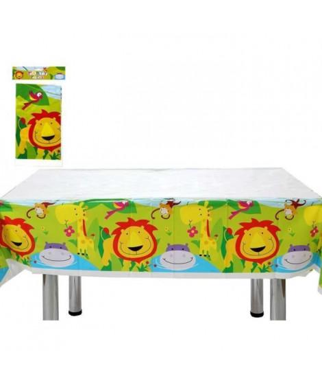 ATOSA Nappe de fete - Imprimé animaux de la jungle - En plastique - 137x182 cm