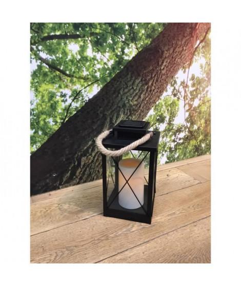 LUMISKY Lanterne solaire LED - 22x22x35cm - Blanc chaud
