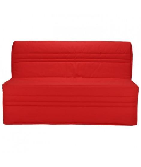 JOÉ Banquette BZ 3 places - Tissu rouge - Contemporain - L 143 x P 97 cm