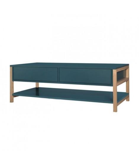 ANKARA Table basse - Bleu - L 120 x P 60 x H 42 cm