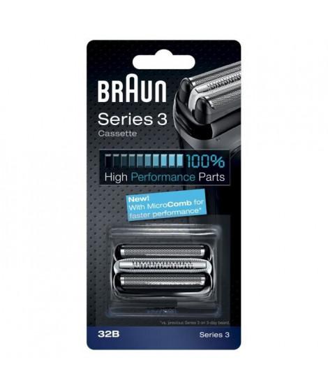 Braun Piece De Rechange 32B Noire Pour Rasoir - Compatible avec les rasoirs Series 3