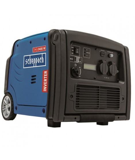 SCHEPPACH - Groupe électrogene Inverter 3400W 5,1CV avec systeme AVR, moteur a essence 4 temps + télécommande