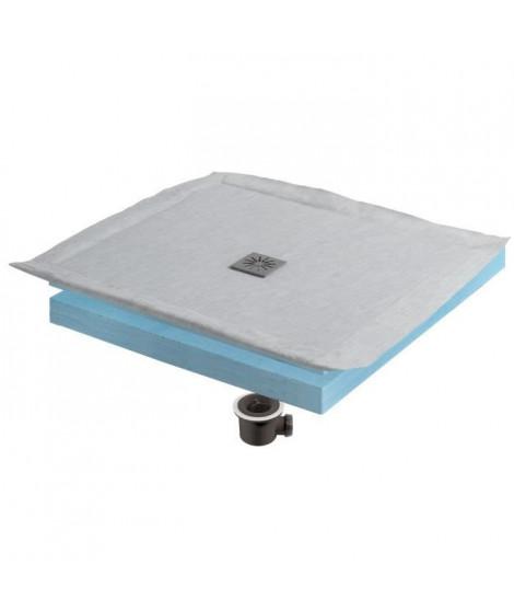 WIRQUIN Kit receveur a carreler Eco 90x90 cm grille carrée