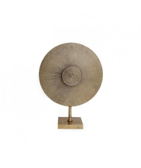Déco aluminium ronde sur support - 47x36 cm