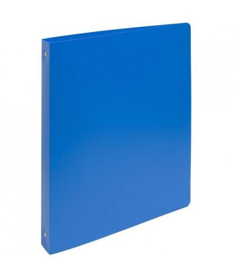 EXACOMPTA Classeur extra large - 242 x 297 mm - 4 anneaux - Ø 30 mm - Ecart 80 polypropylene opaque 7/10 eme - Bleu