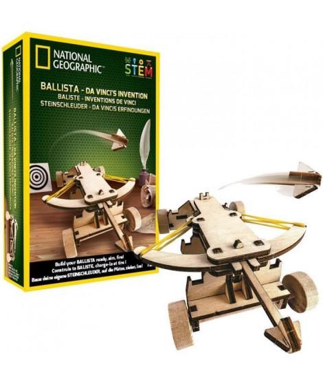 NATIONAL GEOGRAPHIC - Les inventions De Vinci - kit pour construire une baliste en bois sans outil