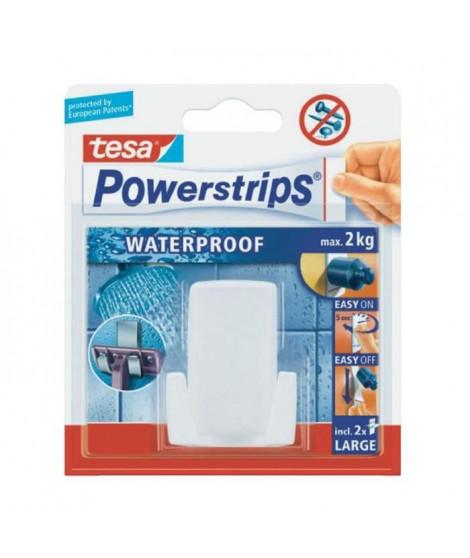TESA 1 crochet spécial rasoir + 2 Powerstrips waterproof