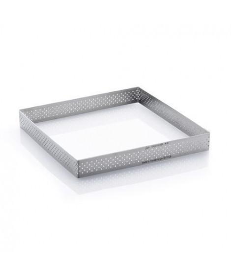 DE BUYER Cercle carré perforé inox - Inox - Diametre : 20 cm - Hauteur : 2 cm