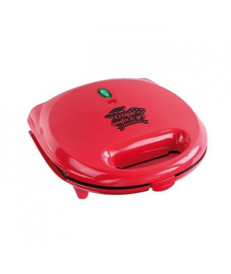 LIVOO  DOP133 Gaufrier multifonction - Rouge