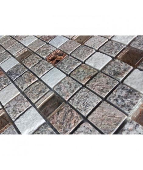 Listel en pate de verre et carrelage Ures - 5 x 30 cm - Rose