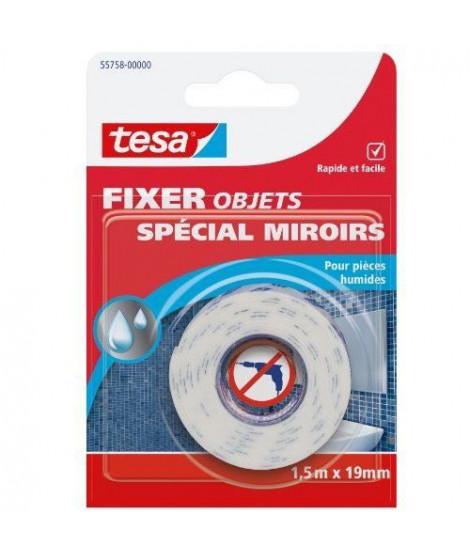 TESA Ruban adhésif Double face miroir - 1,5m x 19mm