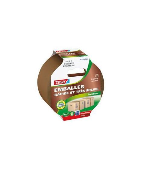 TESA  Ruban adhésif d'emballage carton ecoLogo - 40m x 50mm - Marron