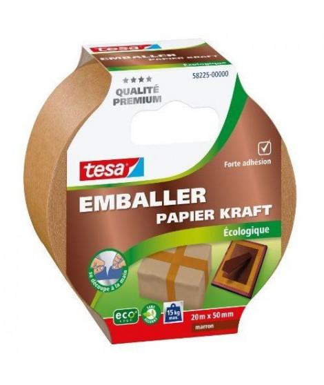 TESA Ruban adhésif d'emballage carton ecoLogo - 20m x 50mm - Marron