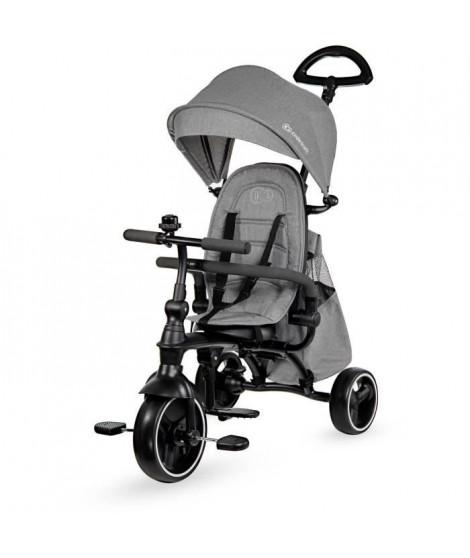 Kinderkraft Tricycle evolutif JAZZ 4 en 1 - Poussette évolutive - de 9 mois a 3 ans - Coloris Gris