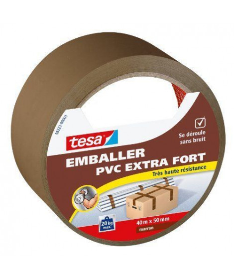 TESA Ruban  PVC extra fort - 40m x 50mm - Marron