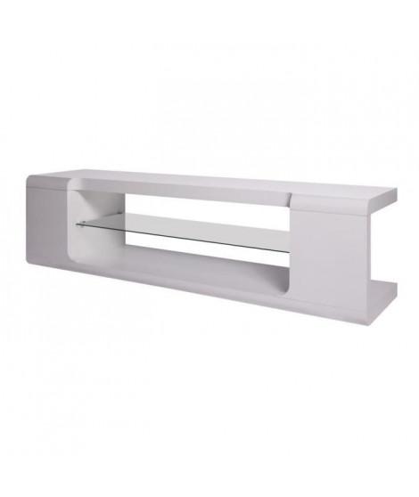 KENDAL Meuble TV - Blanc - L 150 x P 40 x H 40 cm