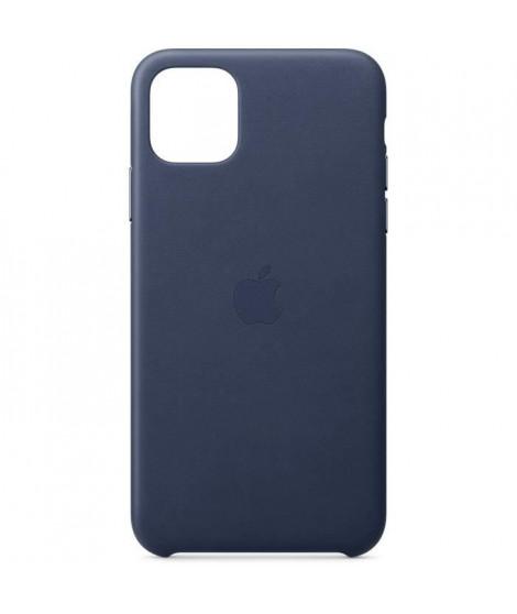 APPLE Coque en Cuir Bleu nuit pour iPhone 11 Pro Max