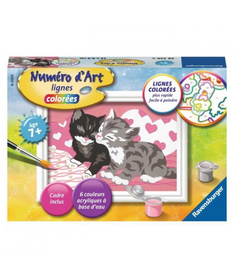 RAVENSBURGER - Numéro d'art mini Adorables chatons