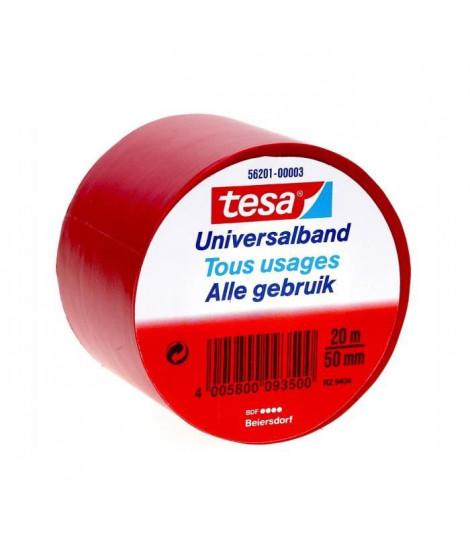 TESA Ruban PVC tous usages - 20m x 50mm - Rouge