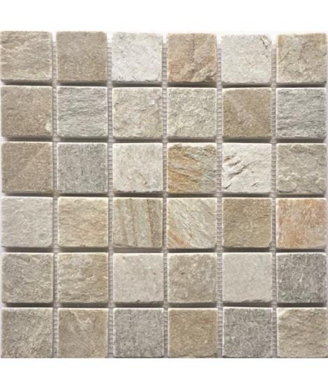 Mosaique en pierre naturelle -- 30 x 30 cm - Beige creme